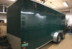 Heated/ Insulated Enclosed trailer for sale.