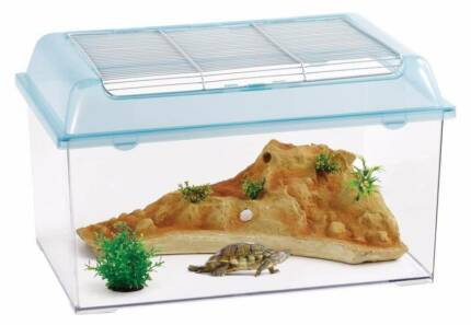 Reptile Haven Enclosure Tank Box with Resin rock and Plants