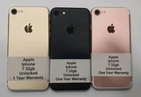 Like New Used Apple Iphone 7 32gb-128gb-256gb Unlocked