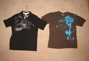 Boys Quiksilver and Volcom Shirts, Clothes - 14, L, Men's S