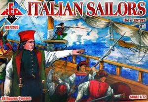 RED-BOX-1-72-Italiano-MARINEROS-16-17-Century-Set-1-72105