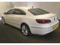 2014 WHITE VW CC 2.0 TDI CR 140 BMT GT DSG DIESEL SALOON CAR FINANCE FR £50 PW