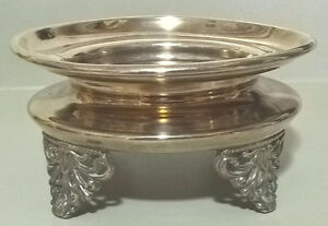 """Vintage Footed Bowl/Candy Dish Silverplated, Engraved """"Cake"""""""