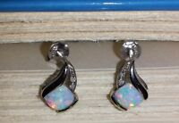 Opal and Diamond Studs