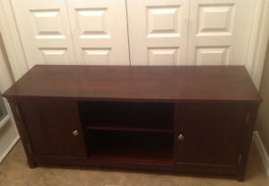 Wooden media and TV stand
