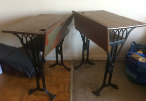 2 x Antique children's vintage school desks