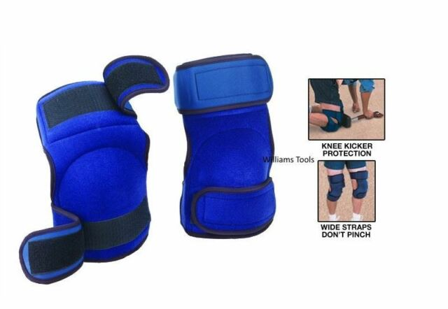 Crain 197 Pair of Comfort Work Knee Pads Wide Straps Kicker Padding