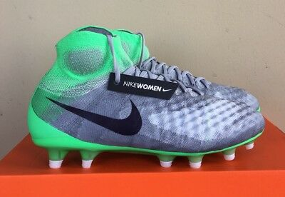 Nike Women's Magista Obra II FG Soccer Cleats Grey Green 844205-053 Size 7.5