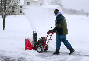 I'll snow blow your driveway today