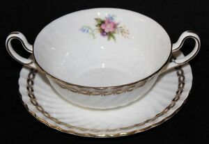 FOLEY CREAM SOUP BOWL'S & SAUCER'S