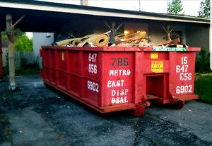 Disposal Bin Rental service 10-40 Yards Flat Rates Junk Removal