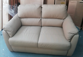 2 seater beige Sofa £100. Real Bargains Clearance Outlet Leicester Cit