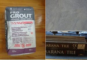 Porcelain Tiles 18x18 - 3 boxes & Grout bag 22lb / 10 kg ~ NEW Kitchener / Waterloo Kitchener Area image 1