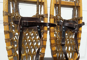Brand new GV traditional 10 X 46 wood snowshoes – Raquettes bois Gatineau Ottawa / Gatineau Area image 2