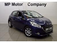 2013 62 PEUGEOT 208 1.2 ACTIVE 5D 82 BHP 5DR 5SP ECO PETROL HATCH, BLUE, 38,000M