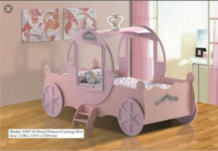 Princess Carriage Bed with Netting