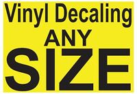 Decals, Any color, Any size, Large scale printing.