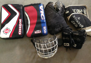 Lots of Hockey Goalie Equipment!