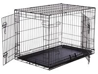 New Large dog cage with divider panel
