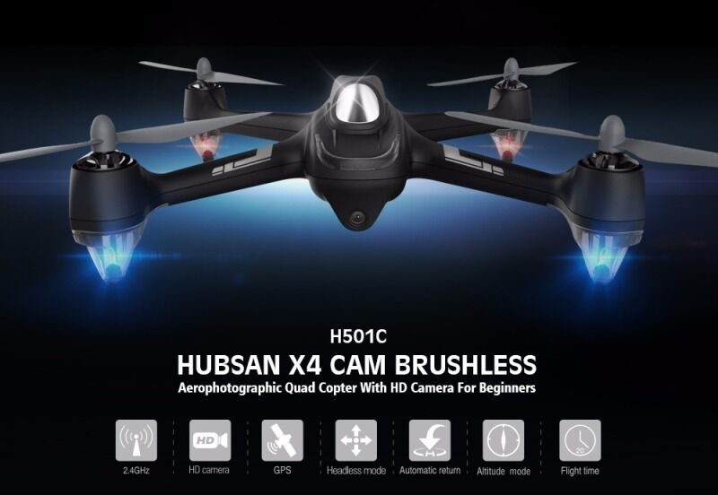 Hubsan x4 h501c brushless drone 1080p camera gps altitude hold