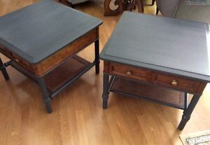 Beautiful maplewood side tables by Drexel