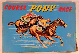 Vintage 1960's David Lord ''Pony Race'' Board Game