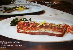 Company's Coming two glazed serving platters - excellent quality Cambridge Kitchener Area image 1