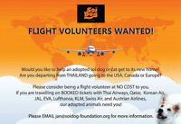 Dogs and Cats need your help, Flight Volunteers