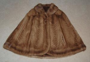 Elegant Brown Fur Cape for Women in Size S/M