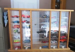 Home Made Dinky Toy Holder and Dinky Toys