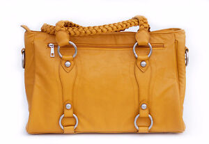 DSLR CAMERA BAG IN MUSTARD - NEW AND UNIQUE