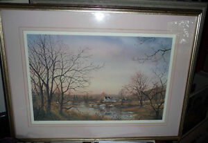 "Peter Robson ""Prelude To Spring"" Signed and Numbered Print Stratford Kitchener Area image 1"