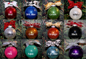 Custom and personalized christmas tree ornaments