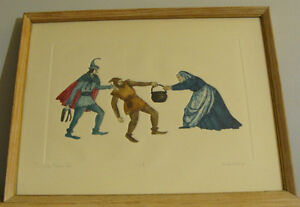 Lucille Gilling signed etchings/aquacolor