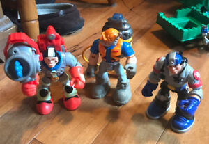 Fisher Price Rescue Heroes From 1990's Three Total Excellent Con