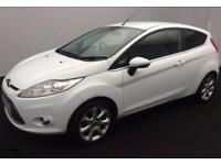 2012 WHITE FORD FIESTA 1.2 ZETEC 82 PETROL 3DR HATCH CAR FINANCE FR £20 PW