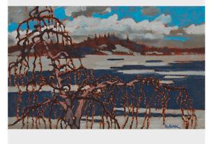 Bruno Bobak Oil on Board Painting .....Tamarack Spring