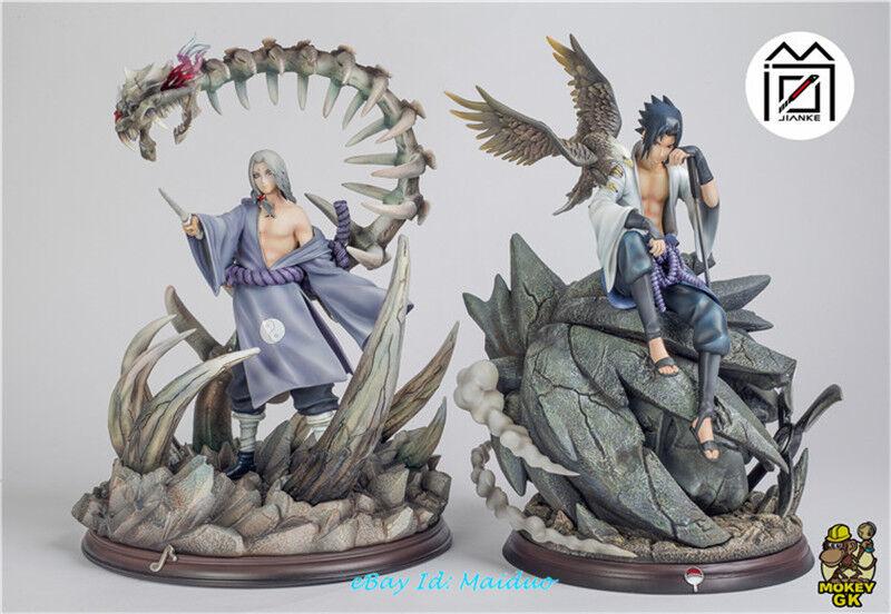 Naruto Uchiha Sasuke Statue Hawk Figurine Collections Resin Model