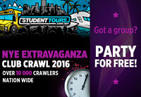 Manager for Club Crawl on NYE!  Victoria $85