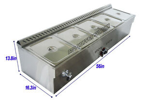 5-Pan Gas Steam Table Food Warmer 190119