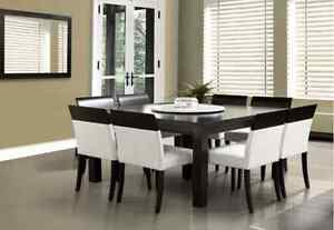 Dining room table and chairs - modern