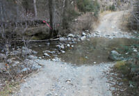 Drive up placer gold claim on Whipsaw creek, near Princeton
