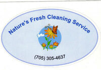 Nature's Fresh Cleaning Service Barrie Wasaga Beach, Collingwood