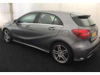 2016 GREY MERCEDES A200 2.1 AMG LINE DIESEL MANUAL CAR FINANCE FROM 58 P/WK
