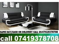 ZAP 50% OFF ON SALE-----CWRAL WHITE AND BLACK 3+2 SEATER SUITE