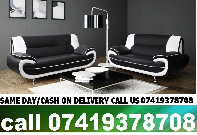 50OFF SALEBLACK AND WHITE KEROL 3 AND 2 SEATER LEATHER SOFAin Forest Gate, LondonGumtree - BRAND NEW PU LEATHER THICK PADDED CHROME LEGS AVAILABLE COLOUR BLACK/WHITE, BLACK/RED AND BRWON/CREAM DIMENSIONS 3 SEATER W ? 194 cm, H ? 90 cm, D ? 82 cm 2 SEATER W ? 163 cm, H ? 90 cm, D ? 82 cm CHERYL 3 2 SEATER SOFA 279 To see all of our product...