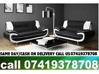 KAX 50 % OFF ON SALE-----CARTL WHITE AND BLACK 3+2 SEATER SUITE