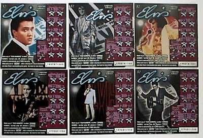 Elvis Presley On 6 Different Tickets  Ca Instant Lottery Ticket Set