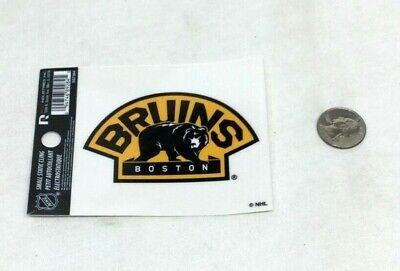 New NHL Boston Bruins Bear Logo Small Static Cling Window Decal 3x4 Size Vinyl (Logo Small Window Cling)