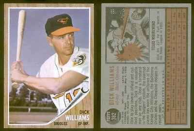 (21842) 1962 Topps 382 Dick Williams Orioles-EM